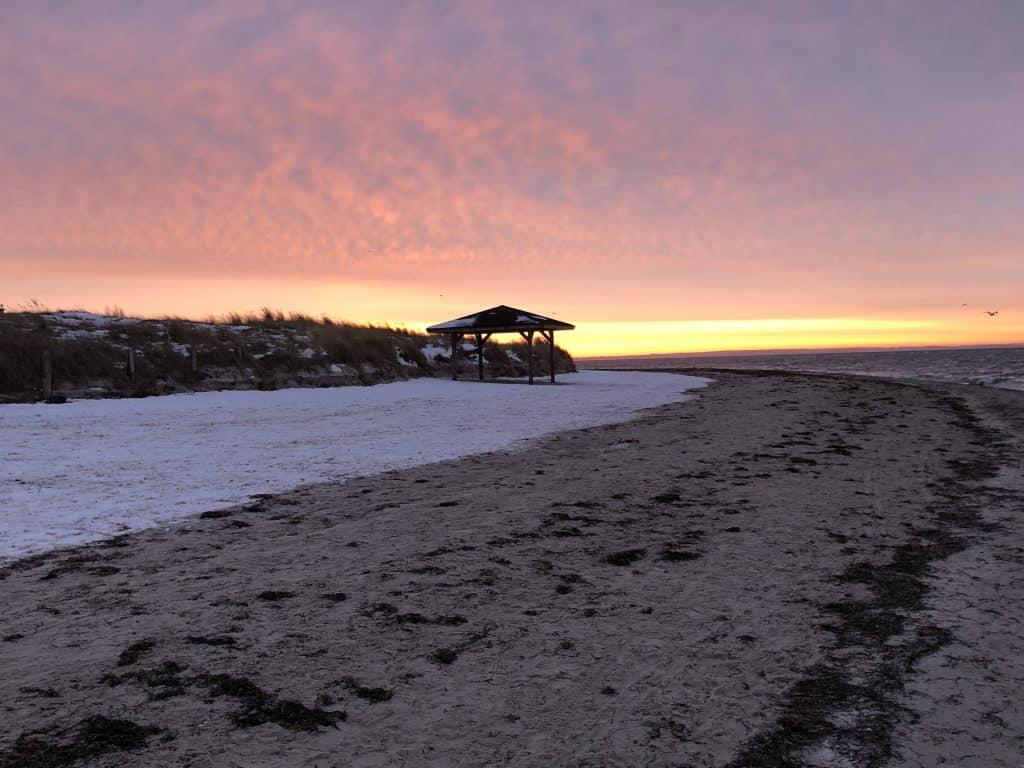 Sonnenaufgang an der Ostsee - Pelzerhaken