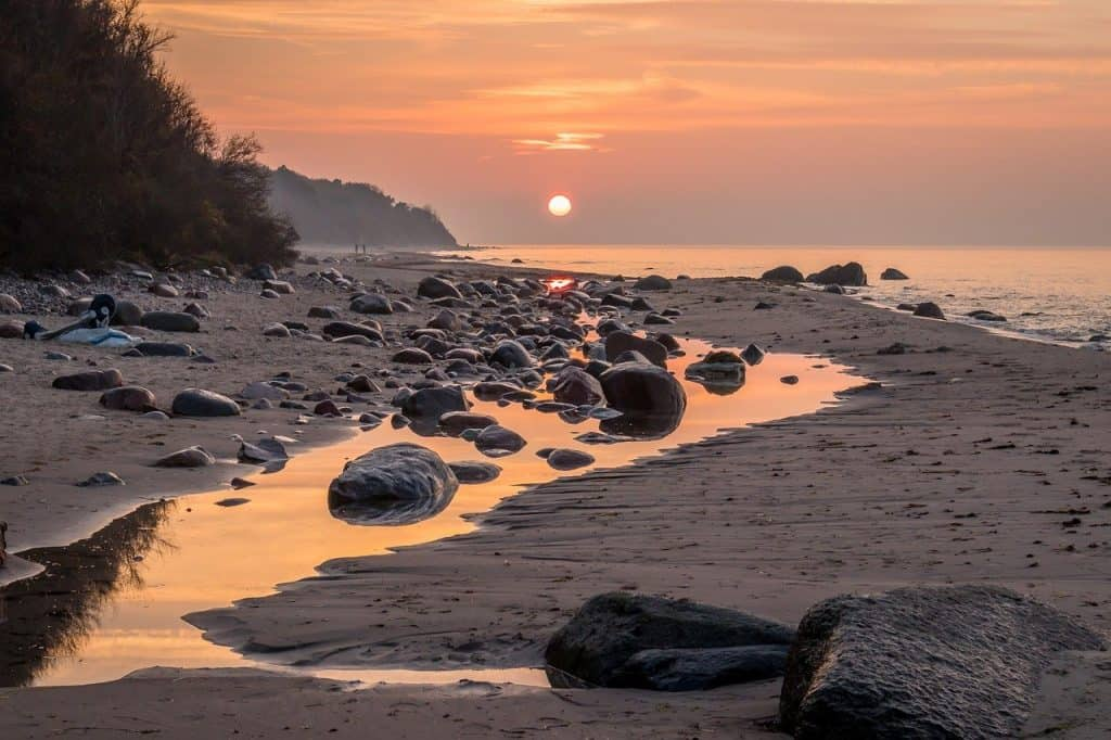 Sonnenuntergang am Meer - Rügen