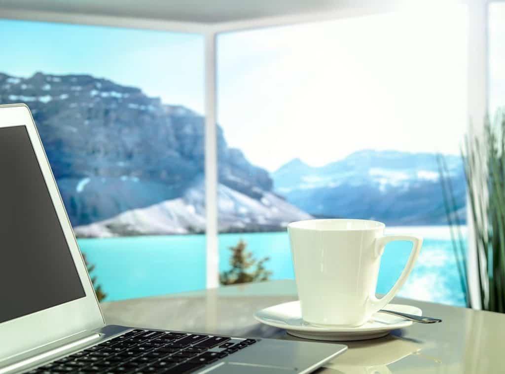 Urlaub und Arbeiten am gleichen Ort